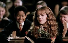 As many Harry Potter fans may know, September 19 was a very important day. It was Hermione Granger's birthday, and our favorite witch is all grown up in the wizarding world. In the Harry Potter timeline, this year would've marked Hermione's Harry Potter Gif, Harry Potter Wizard, Harry Potter Characters, Harry Potter World, James Potter, Alex Watson, Lucy Watson, Hermione Granger, Hermione Gif