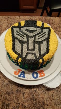 Transformers cake bumblebee cake transformers party transformers no fondant cake