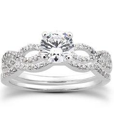 Jewelry Point - Intertwined Matching Diamond Engagement