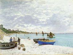 Claude Monet - The Beacht at St Adresse