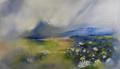 Oil on canvas x Painted by Ellie Eburne Tapestries, Fields, Abandoned, Oil On Canvas, Bloom, Ocean, Flowers, Painting, Art