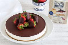Cheesecake senza cottura al mascarpone, cioccolato e fragole