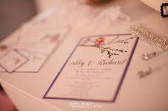 Love bird wedding invitations. Gotta be Union Jack and American flag