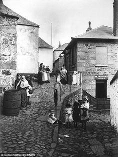 PENZANCE (c.1900): 'Poor children outside their homes in Penzance around 1900' ✫ღ⊰n