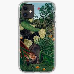 'Tiger, and buffalo' iPhone Case by Iphone 11, Iphone Hard Case, Slim Iphone Case, Iphone Wallet, Iphone Case Covers, Henri Rousseau, Cell Phone Covers, Botany, Cover Design