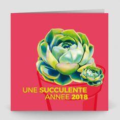 Carte De Voeux Succulente