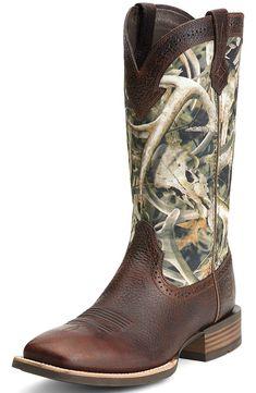 Ariat Mens Quickdraw Square Toe Cowboy Boots - Brown/Bonz $189.95