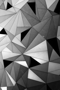 Graphic Geometric Pattern - modern monochrome print design with textural effect // Paul Galbraith
