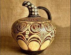 Home :: Greek Pottery :: Minoan Pottery :: Cretan Oinochoe- Iris Lucille Rookwood Pottery, Raku Pottery, Pottery Art, Pottery Studio, Ancient Greece, Ancient Egypt, Ancient Artifacts, Ancient Aliens, Greek Pottery