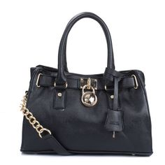 Come To Buy Michael Kors Hamilton Medium Black Totes To Show Your Elegence And Beauty.