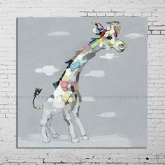 Abstract giraffe paintings for saleabstract by ApeArtStudio