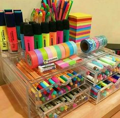 DIY Craftroom Organization – Unexpected & Creative Ways to Organize Your Craft Room Craft Storage Ideas for Small Spaces – Craft Room Organizing Ideas Craft Storage Ideas For Small Spaces, Small Storage, Storage Drawers, Storage Containers, Stationary Store, Stationary Supplies, Stationary School, School Suplies, Cute School Supplies