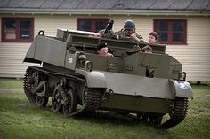 Bren Gun Carrier is a light armored vehicle developed by the British in WW2. It holds the record as the most widely produced tracked armor in history with more than 113,000 made. The vehicle was so frequently captured by the Germans that they mounted cannons and rocket launchers and used them in their own army, mostly against the Russians. The vehicle was fast, versatile, reliable and capable of carrying weapons and ammunition into combat. It was enormously popular and was built until 1960.