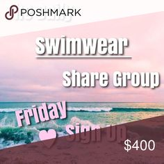 """Closed 👙 3/17 SWIM Share Group Welcome to the Daily 👙Swimwear👙 SHARE GROUP! We start sharing at 8am and sign up closes at 2pm EST. Share by midnight your time.   1. Sign up with your username ex. @meganjbrooks 2. Start sharing at 8am your time & SHARE 10 items from the """"swim"""" category per Posher that signed up. Hold your place with ** and the first three letters of the user you left off on. SHARE by midnight your time.  3. SIGN OUT when complete ex. """"All shared!""""  👙LIKE the listing to…"""
