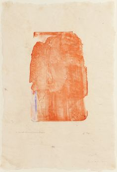 Helen Frankenthaler, I Need Yellow (in Orange) with Crayon and Paint, 1973-76