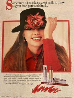 Vintage Makeup Ads, Retro Makeup, Vintage Beauty, Vintage Ads, Vintage Prints, 90s Makeup, Vintage Models, Bonne Bell, Beauty Ad