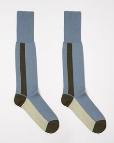 From Italian fashion house Marni, known for a refreshing use of color and fusing art with fashion with its signature prints and proportions. A calf-length sock featuring signature colorblocking. - Cal