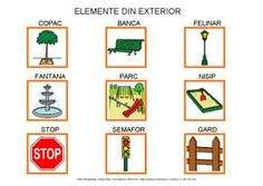 Elemente din exterior by Dana Horodetchi, via Slideshare Romanian Language, My Passion, Preschool, Exterior, Activities, Education, Holiday Decor, Languages, Autism