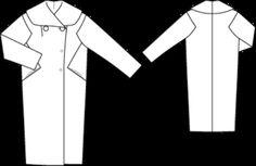 Coat KIM Technical Drawing