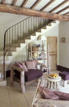 Loving all the wood and stone floor!!  Dunno about the drift wood furniture, but love the colors!