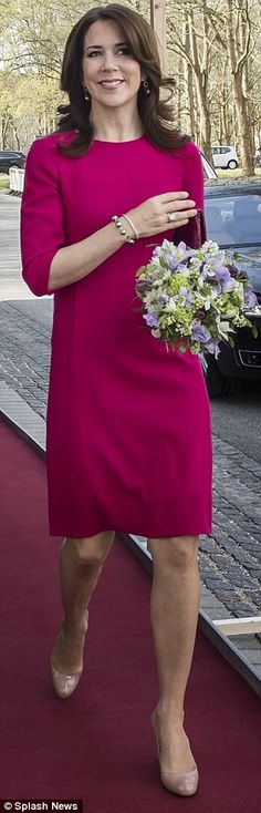 Standout: The seemingly ageless beauty had heads turning a bright pink dress that hugged her petite frame