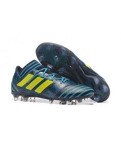 Adidas Nemeziz 17.1 FG FAST UNDERLAG Blå Gul Svart Fotbollsskor