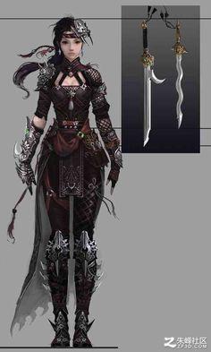 Resultado de imagen para female ninja concept art