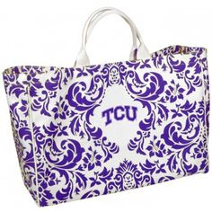 TCU Tote. . . I want this honestly