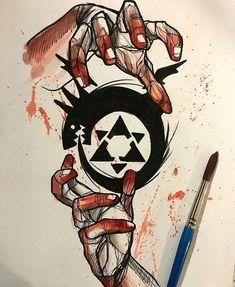 symbol on hand/shoulder Fullmetal Alchemist Brotherhood, Fullmetal Alchemist Alphonse, Fullmetal Alchemist Cosplay, Full Metal Alchemist, Der Alchemist, Anime Tatoo, Manga Anime, Anime Art, 4 Tattoo