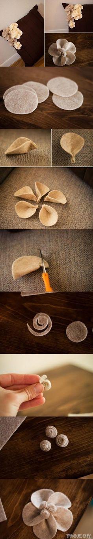 Różyczki na poszewkę poduszki