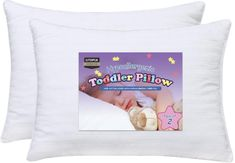 Utopia Bedding Dreamy Baby Pillow - Pack of 2 Toddler Pillows - Organic Cotton Cover - Hypoallergenic Filling - for Boys & Girls x 18 inches, White) Baby Pillows, Kids Pillows, Toddler Pillow, Diaper Changing Pad, Comfortable Pillows, Support Pillows, Pillow Reviews, Pillow Protectors, Baby Sleep