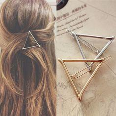 Women Girl Korean Style Triangle Moon Hairpin Hair Clip Hair Accessories