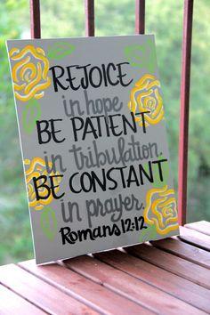 "Romans 12:12 Canvas Painting - 11""X14"""