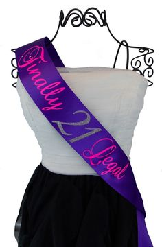 Hey, I found this really awesome Etsy listing at http://www.etsy.com/listing/162160764/finally-legal-21st-birthday-sash-you