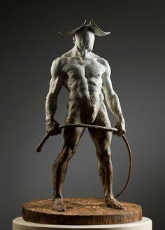 Richard MacDonald. I saw his sculpture in Las Vegas, he is a master.