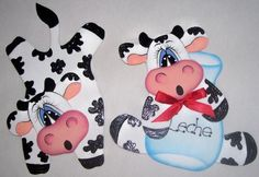 muñecas en goma eva Cow Craft, Cow Pictures, Cow Pattern, Clay Ornaments, Homemade Christmas Gifts, Wood Patterns, Arts And Crafts, Diy Crafts, Tole Painting