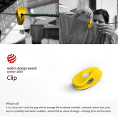 Yellow clip by paul sandip, via behance Presentation Board Design, Industrial Design Sketch, Red Dot Design, Yanko Design, Life Design, Red Dots, Clip, Design Awards, Design Process