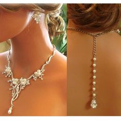 Bridal jewelry set, wedding jewelry set. Would go nicely with the wedding dress my mom got me.