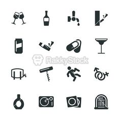 Drunk Party Silhouette Icons | Set 2 | RakkyStock    http://www.rakkystock.com/icon/icons_detail/105