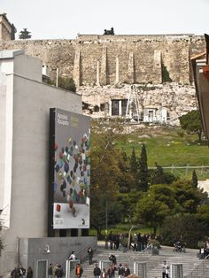 view from the new museum of Acropolis #athens #ancient #museum