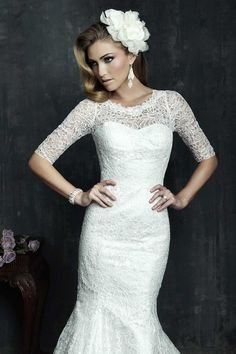 Amazing, breathtaking collection of luxury wedding dresses 2014 the well-known American company Allure Bridals. Wedding Dresses 2014, Luxury Wedding Dress, Wedding Gowns, Lace Wedding, Dresses 2013, Modest Wedding, Mermaid Wedding, Couture Allure, Bridal Lace