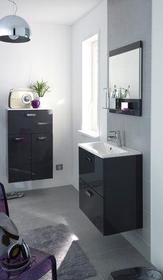 Meuble vasque model – meuble vasque salle de bain - blanc brillant ...