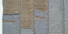 Weaving: Sue Lawty's work at the opening of cloth & culture NOW, at the Whitworth Gallery