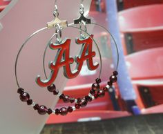 Alabama Crimson Tide Hoop Earrings by joolrylane on Etsy, $29.00