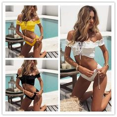 Item Type: Bikinis Set Pattern Type: Solid,Print Gender: Women Support Type: Wire Free Brand Name: ChuEven Material: Spandex With Pad: Yes Waist: Low Waist Please allow 10-30 days for delivery coming from China