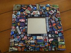 Mosaic Tile  Art Colorful Wall Mirror Broken Plate Face by cocomo, $80.00