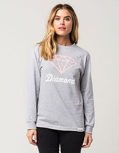 DIAMOND SUPPLY CO. OG Sign Womens Tee Grey