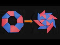 Paper transforming ninja star- YouTube