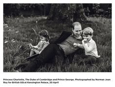 William, George, and Charlotte in British GQ