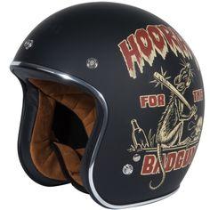 Torc DOT 3/4 Helmet - Dirty Rat (Flat Black) - RetroBikeGear.com